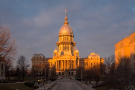 Contractor License Bonds in Illinois - State Capitol Building Springfield, Illinois